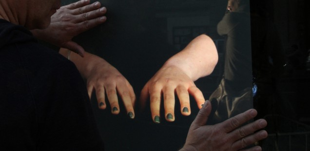 At Hand, touch installation at the Institut Finlandais, Paris